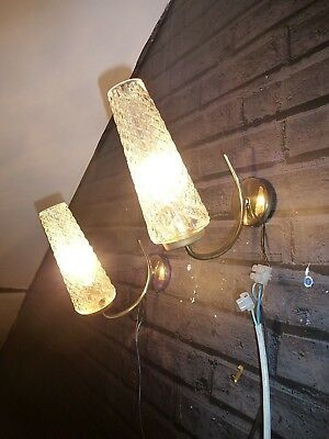 A PAIR OF VINTAGE FRENCH RETRO MID CENTURY 1960's  SPUTNIK WALL LIGHTS