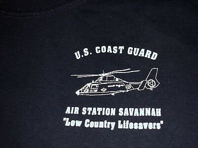 US COAST GUARD Air Station SAVANNAH Georgia Helicopter T Shirt XLarge