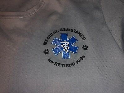Vet Medical Assistance For Retired K-9s Police Dogs  T Shirt Large