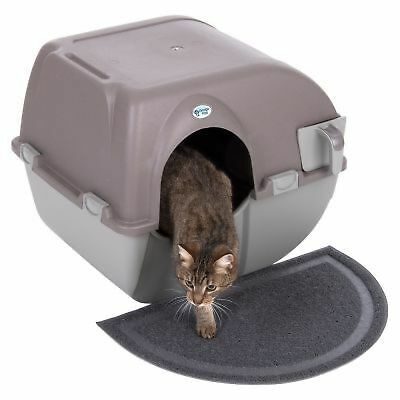 Omega Paw Roll'n'Clean Litter Box Hygienic Self Cleaning Tray For Cats Kittens