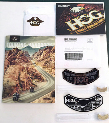 2018/2019 Harley Davidson Hog Pin/patch Sets, Touring Handbook, Membership Guide
