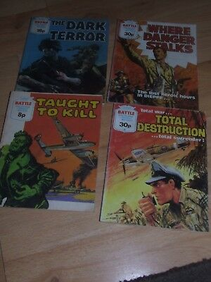 4 X 1970's /1980's Battle Picture Library Fleetway Comics #936, 1325. 1662, 1663