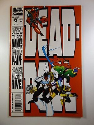 "Deadpool #3 ""The Circle Chase"" Mini-Series Beautiful VF-NM Condition!!"