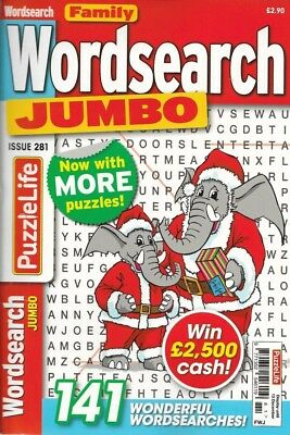 Jumbo Word Search Magazine 141 Puzzles In Each Solutions In Back Free Pen
