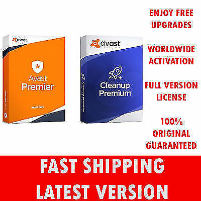 Avast Premier & Avast Cleanup, 10 PC's, 15 Years License!!