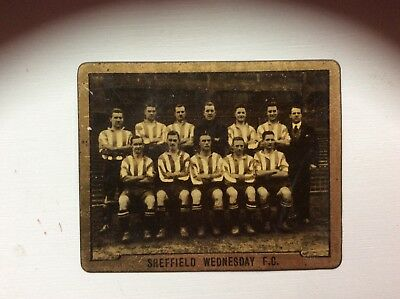 TOPICAL TIMES,FOOTBALL TEAMS, Sheffield Wednesday F.C, RARE METAL CARD, 1925