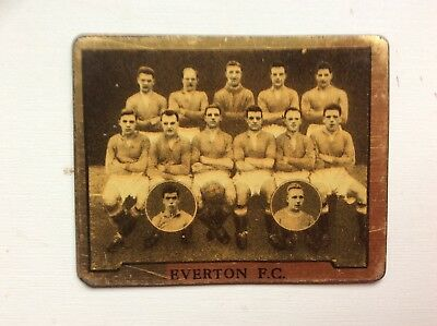 TOPICAL TIMES,FOOTBALL TEAMS, Everton F.C, RARE METAL CARD, 1925