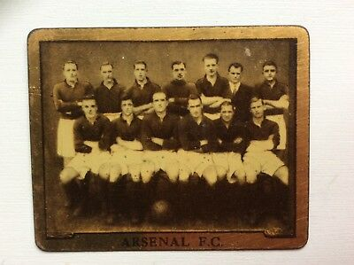 TOPICAL TIMES,FOOTBALL TEAMS, Arsenal F.C, RARE METAL CARD, 1925
