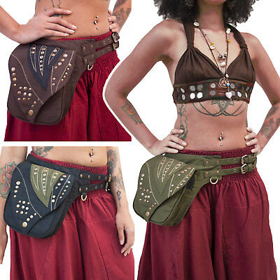 Festival Leaf Pocket Belt, Psy Trance Pixie Belt, Utility Doof Hippy Bumbag
