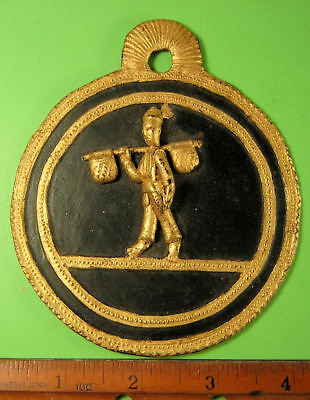 2 Burma lacquer plaques with three dimensional figures.