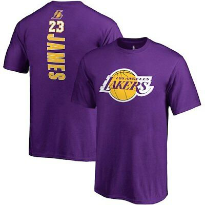 6881748a867 Fanatics Branded LeBron James Los Angeles Lakers Youth Purple Backer Name