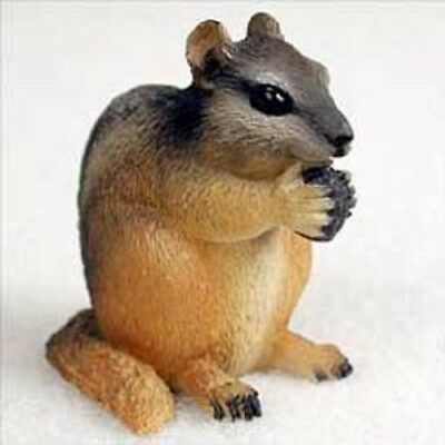 CHIPMUNK animal TiNY FIGURINE resin HAND PAINTED MINIATURE COLLECTIBLE Sm Mini
