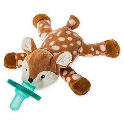 WubbaNub Amber Fawn Infant Pacifier Stuffed Animal Baby Deer By Mary Meryer