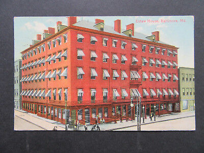 Eutaw House, Hotel, 1909, Baltimore, Maryland, MD, A8132