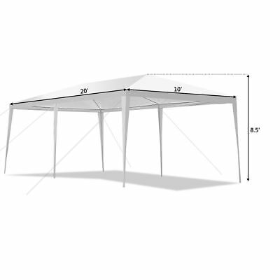 Outdoor 10'x20'Canopy Party Wedding Tent Gazebo Pavilion Cater Events4Sidewall 4