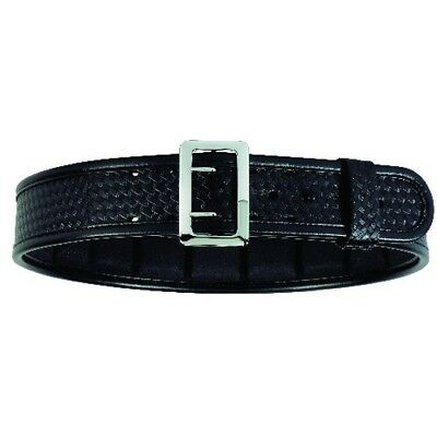 "Bianchi 22381 Sam Browne Belt 2.25"" Hi-Gloss Faux Leather Brass Buckle - 32"