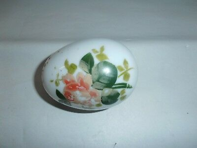 Vintage Hand-Blown Opaque Glass Easter Egg-3 7/8 X 2 3/4""