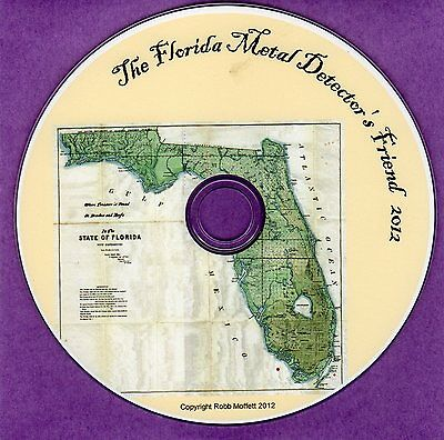 Florida Metal Detectors Friend Historical Research Treasure Hunters Guide