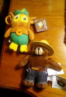 Listing is for one. PICK. BEAR OR OWL.OR both WOODSY OWL.  SMOKEY BEAR.free ship