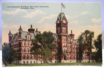 "1918 Tint Postcard  "" Administration Building  Ohio State University, Columbus """