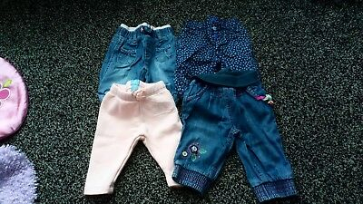 0-3 months girls bundle with baby gap trousers and lovely cute jeans