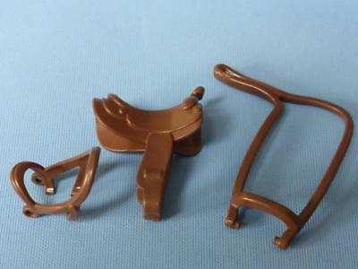 Playmobil New Style Horse Tack - Bridle Saddle & Reins Brown - Farm Stables