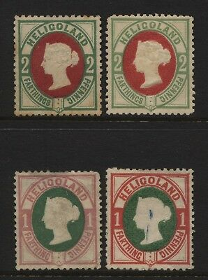 Heligoland Collection 4 QV Stamps Unused Mounted