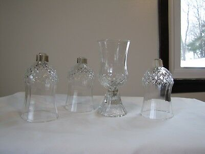 Set 4 Home Interior Homco Cathedral Diamond Votive Cups w/Grommets. 5""