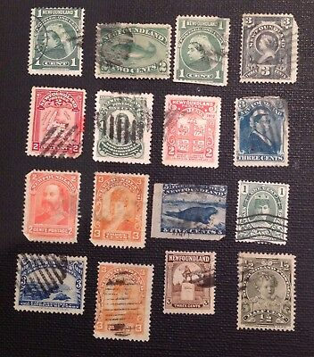 Old used stamps of NewFoundland Canada