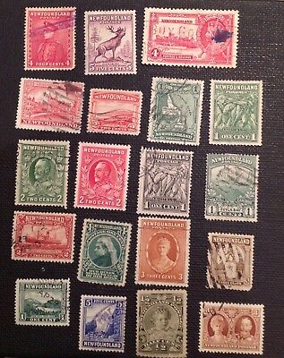 Used stamps of Newfoundland Canada
