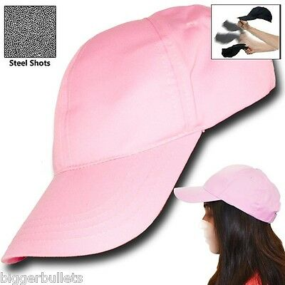 Pink Self Defense Baseball Hat Cap Low Profile Weighted Style Impact Tool