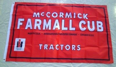 Farmall Cub Tractor Flag McCormick / International 3' X 5' Banner Polyster 455