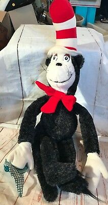 Vintage Large 1983 Coleco Plush 25'' Dr. Seuss Cat in the Hat Stuffed Toy (a033