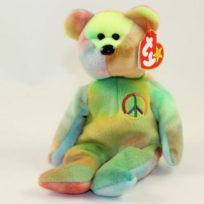 Ty Beanie Baby - Peace the bear