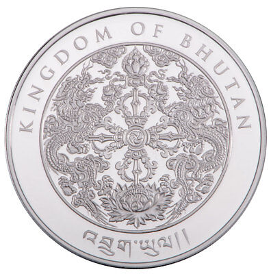 2019 Kingdom of Bhutan 1 oz Silver Lunar Year of Boar Gem Proof Coin SKU56298