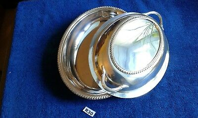 Antique Silver Plated Serving Entree Dish Tureen By William Suckling