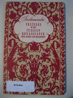 SCALAMANDRE TEXTILES of the ITALIAN RENAISSANCE history 1950s 24pg booklet
