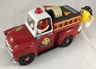 M&M'S Red Five Alarm Fun Fire Department Truck Engine Candy Dispenser Mars 2006