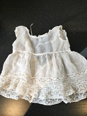 VINTAGE 1930's CHILDS LACE AND COTTON OVER PETTICOAT/PINAFORE