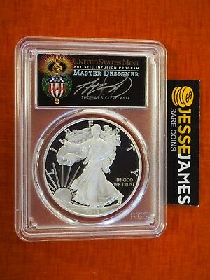 2018 S Proof Silver Eagle Pcgs Pr70 Cleveland Torch First Day Of Issue Pop 100