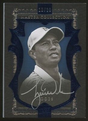 2015 UD Master Collection Blue Golf Tiger Woods AUTO 10/20
