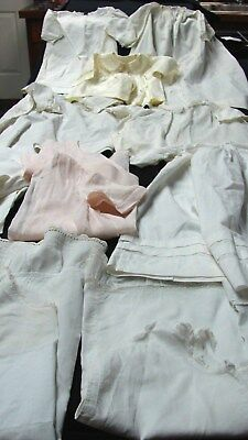 Antique Victorian Early Vintage Lot 12 Baby Dresses & Slips