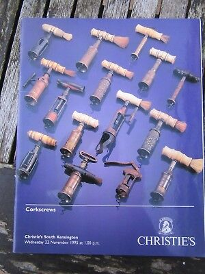 Corkscrews Christies South Kensington Auction Catalogue 22 Nov 1995 Ex  Results