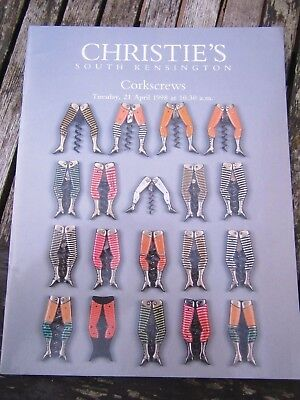 Corkscrews Christies South Kensington Auction Catalogue 21 April 1998 Ex Cond