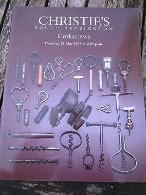 Corkscrews Christies South Kensington Auction Catalogue 15 May 1997 Ex