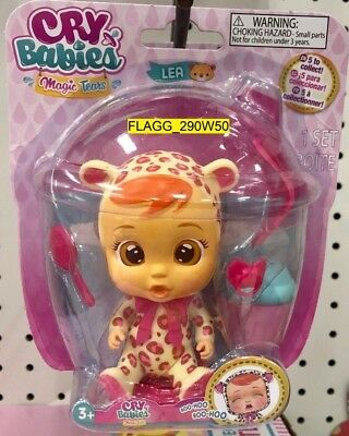 """CRY BABIES Magic Tears *LEA* 6"""" Articulated Doll Bottle Pacifier Lollipop Cries"""