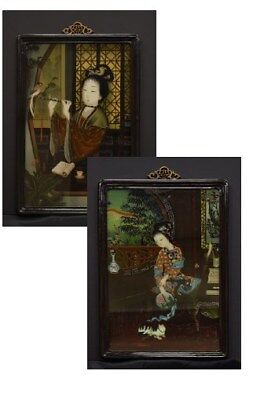 Meirenhua Reverse Glass Painting Portraits