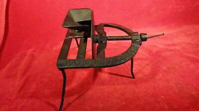 Great Antique Patent Dated 1863 Iron Cherry Seeder With Hand Crack