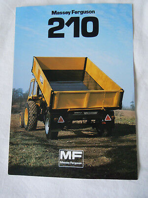@Vintage Massey Ferguson 210 Trailer Spec Sheet @