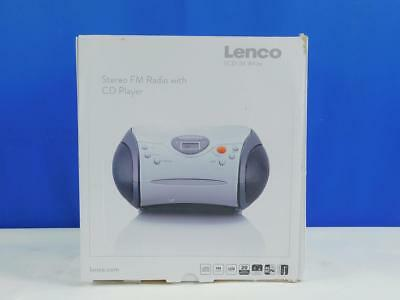 Lenco SCD-24 Stereo UKW Radio CD Player Teleskopantenne weiß